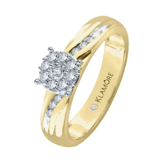 Anillo De Compromiso Oro 14k Con 20 Puntos De Diamante Anillo en oro blanco de 14k medida: anillo de compromiso oro 14k con 20 puntos de diamante