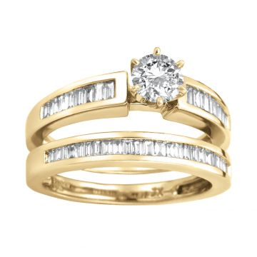 ANILLO SOLITARIO - CHURUMBELA ORO 14K CON DIAMANTE